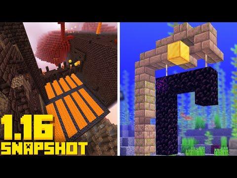 New BASTION DUNGEON! Ruined Nether Portals (Minecraft 1.16 Snapshot 20w16a Update)