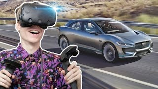 VIRTUAL REALITY CAR SHOWROOM | Jaguar I-PACE VR Experience (HTC Vive Gameplay)