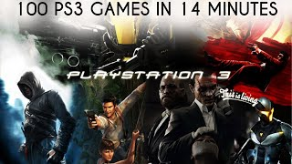 100 PS3 Games in 14 Minutes