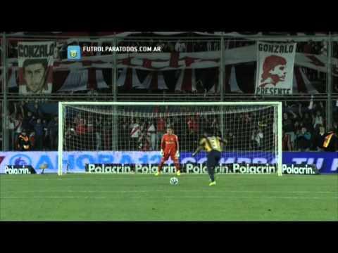 Definición por penales. River 0 (4) - Central 0 (5). 4tos de Final. Copa Argentina 2013/14. FPT