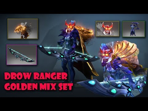 Dota 2 Drow Ranger Most expensive and Best Mix Set Golden Silent Wake - Monarch Bow