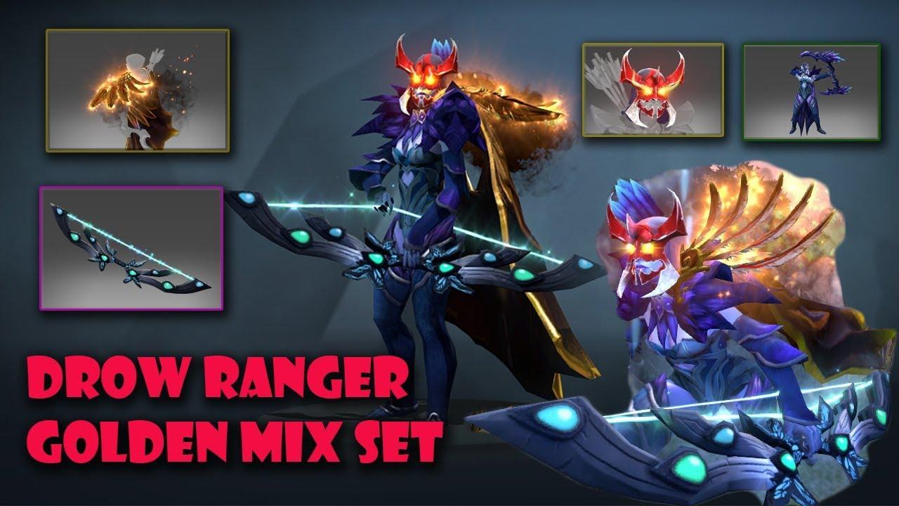 Drow Ranger Dota 2 Immortals: Dota 2 Drow Ranger Most Expensive And Best Mix Set Golden