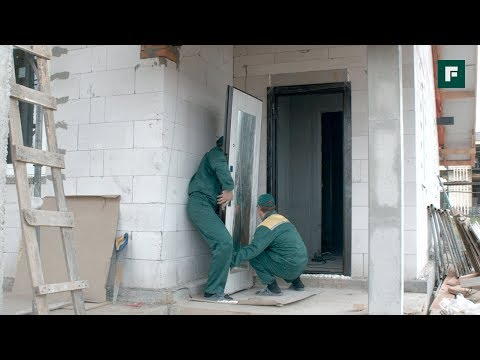 ДОМ ЗА ГОД. Монтаж входных дверей // FORUMHOUSE