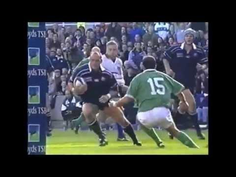 Gregor Townsend try assist vs Ireland 2001