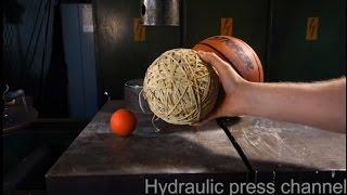 Crushing balls with hydraulic press VOL 1.