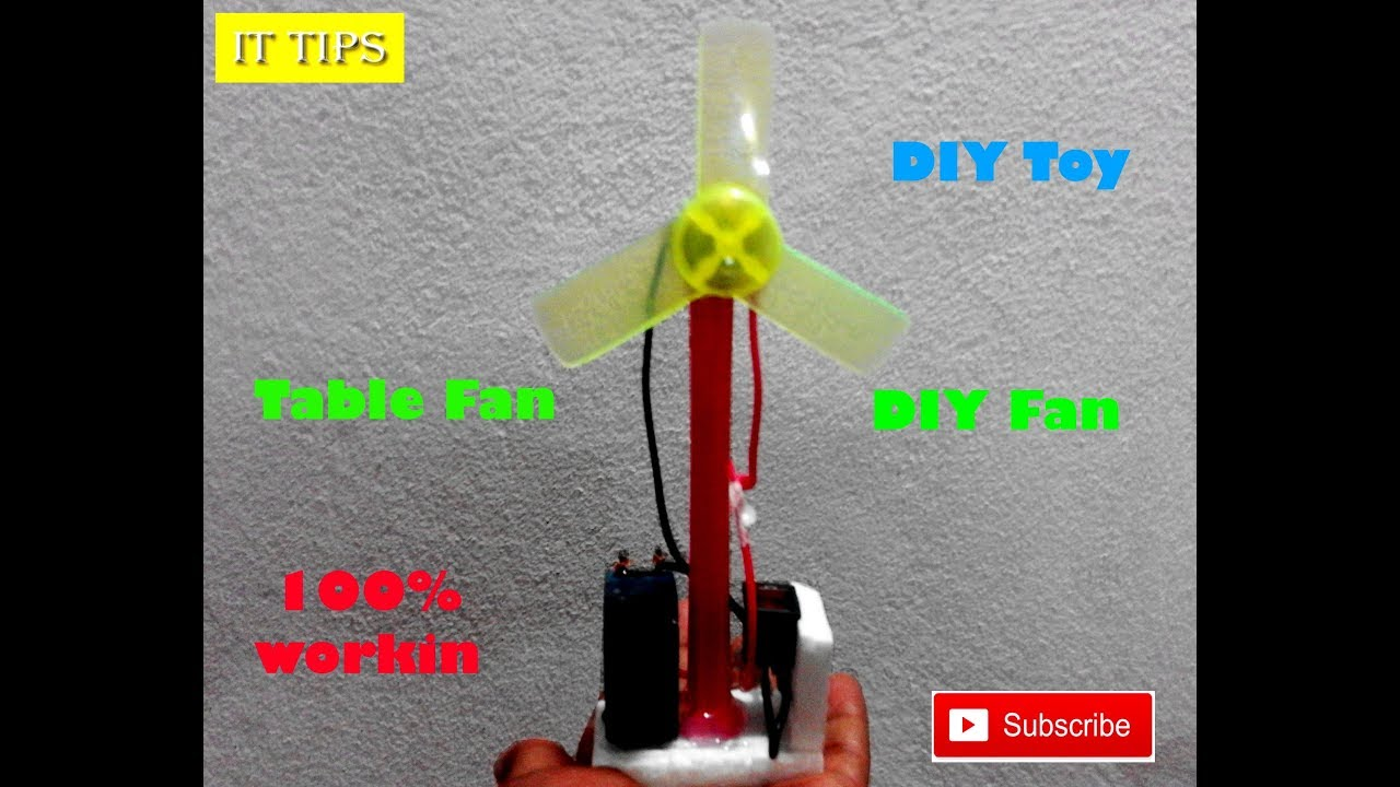 How to Make an Electric Table Fan using Paip - Very Simple
