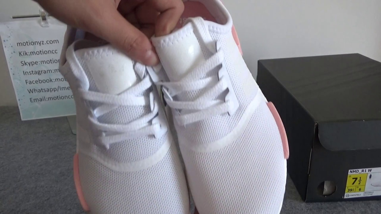 adidas nmd r1 pink and white