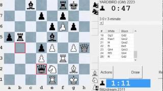 Partie d'échecs commentées en direct #8 contre le GMI Eric Lobron