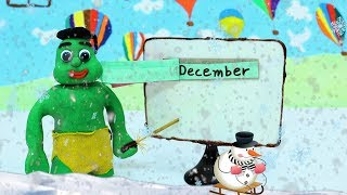 Green Baby -In- LEARNING MONTHS - Stop Motion Cartoons For Kids