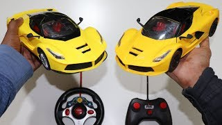 Remote Control High Speed Racing Ferrari Car Unboxing  Testing - chatpat toy tv