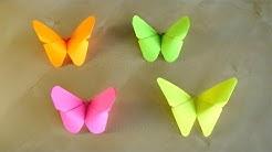 Basteln: Origami Schmetterling falten mit Papier. Deko selber machen. Geschenke & Wanddeko
