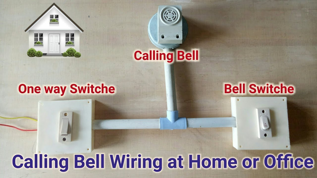 Calling Bell Wiring Connection At Home Youtube Office Diagram
