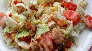 Odchudzone przepisy: Sałatka kebab- gyros