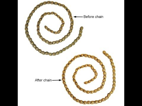 How to clean Gold chain, Brass chain , fashion jewellery at home