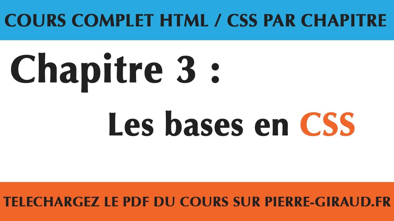 Cours complet html css chapitre 310 les bases en css youtube cours complet html css chapitre 310 les bases en css baditri Gallery