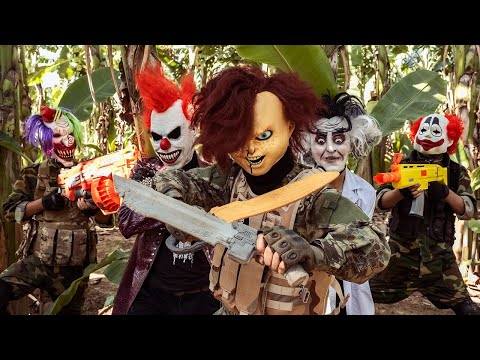 Loka Nerf Guns : Squad Delta Nerf Guns Fight Dr.Crazy Crime Group Mask Ep 6