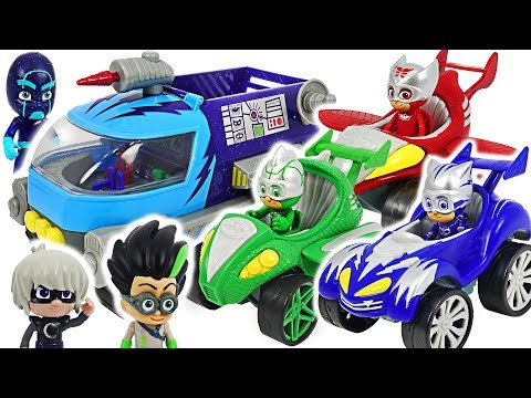 Upgrade! PJ Masks Power Racers Cat-Car, Owl-Glider, Gekko-Mobile! #DuDuPopTOY