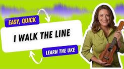 I Walk the Line Johnny Cash Beginner Ukulele Tutorial - 21 Ukulele Songs