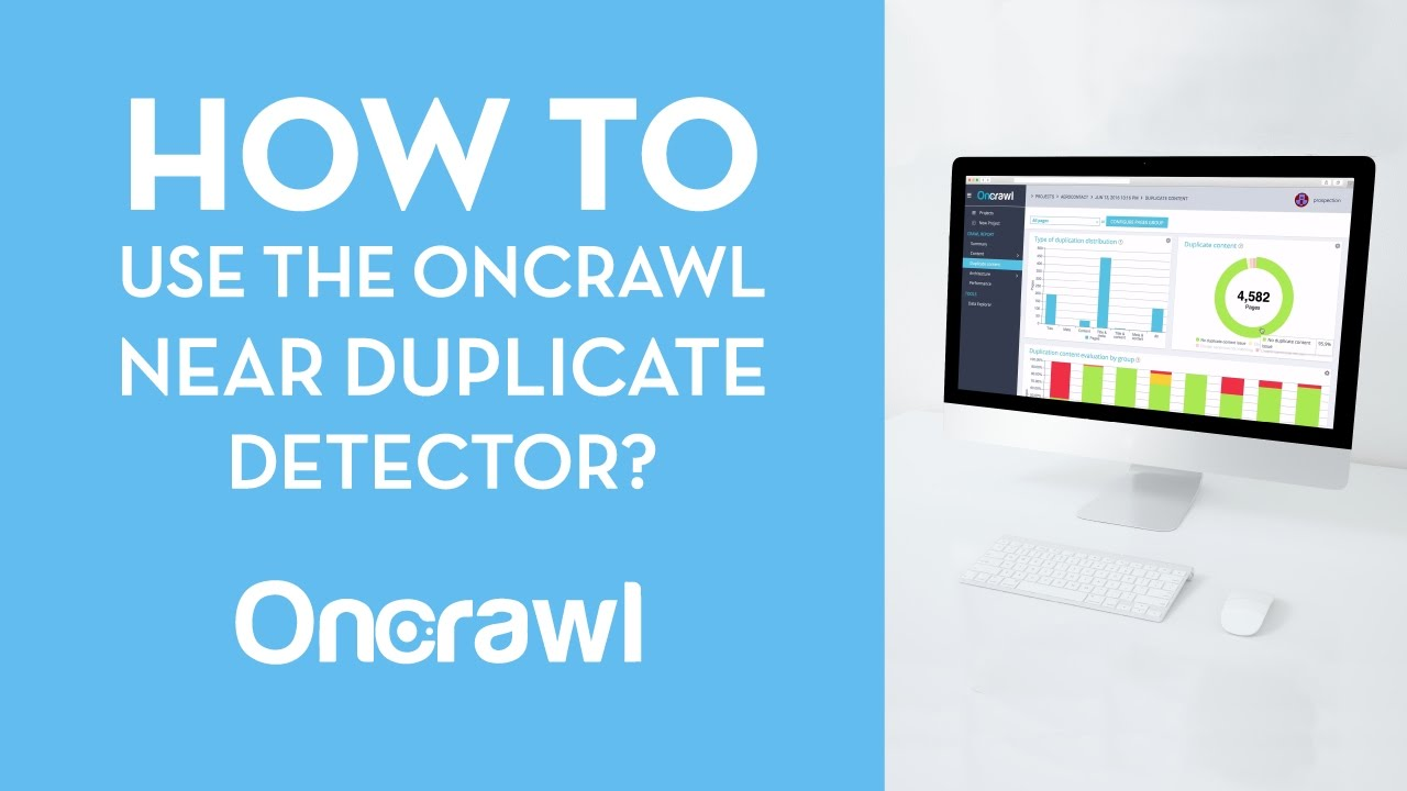 Tutorial: How to use the OnCrawl near duplicate detector