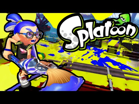 Splatoon Wii U Ink Brush! New Update Kraken Roller Inkbrush Online Gameplay Walkthrough PART 6 HD