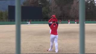 2017/2/1@佐伯 ドラ2ルーキー・高橋昂也投手キャッチボール
