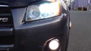 toyota rav4 2011 sport v6 with 35w hid low beams and 25w led high beams