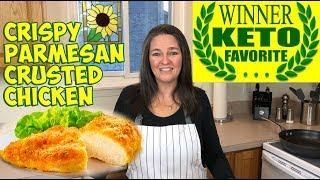 Crispy Crusted Keto Chicken Recipe - Family Favorite