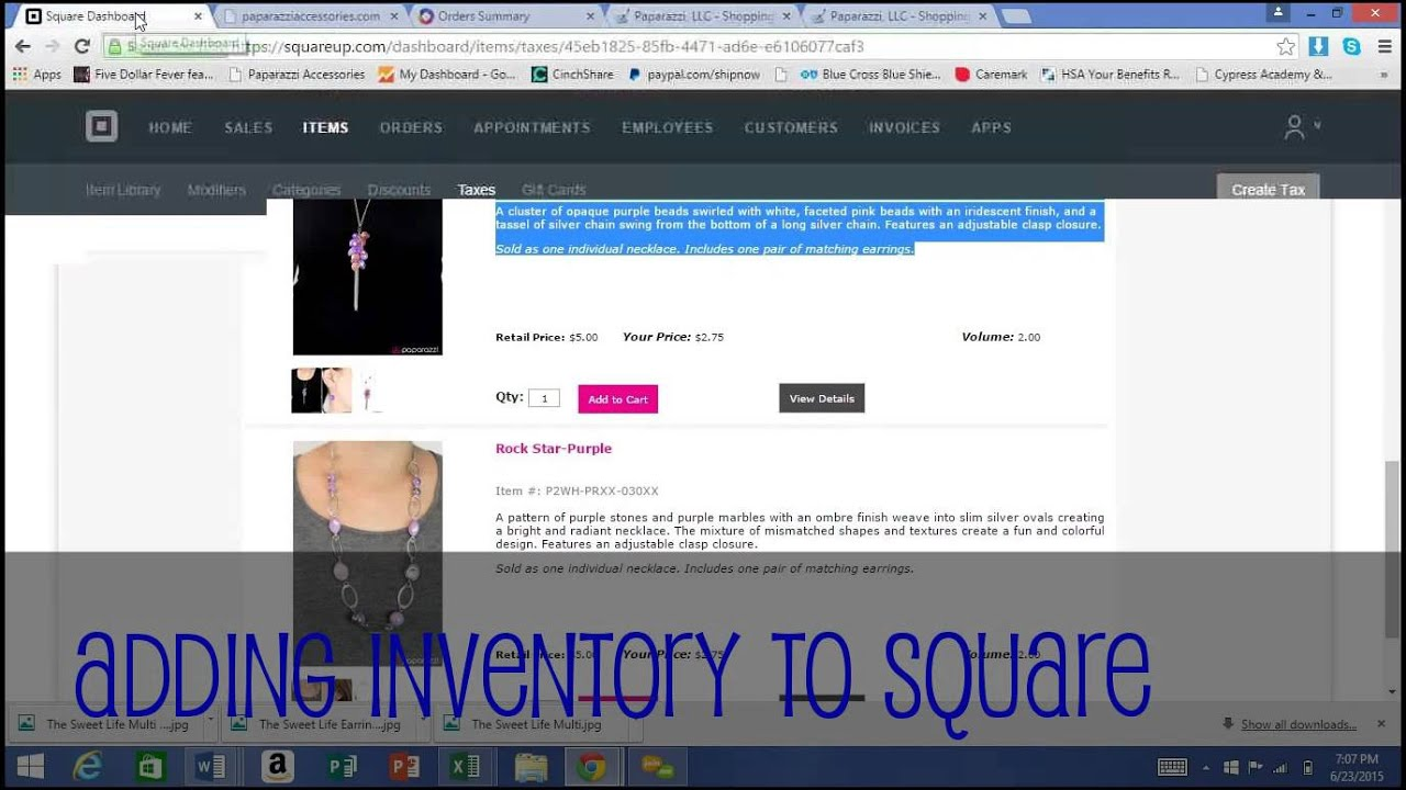 Squarecom For Paparazzi Consultants A Free Tool For Inventory - How to make a invoice free everything 1 dollar store online