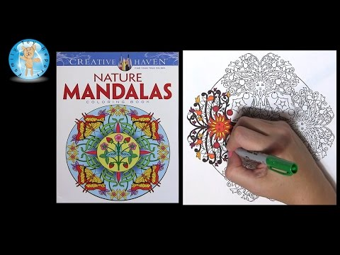Creative Haven Nature Mandalas by Marty Noble Adult Coloring Book Sun - Family Toy Report
