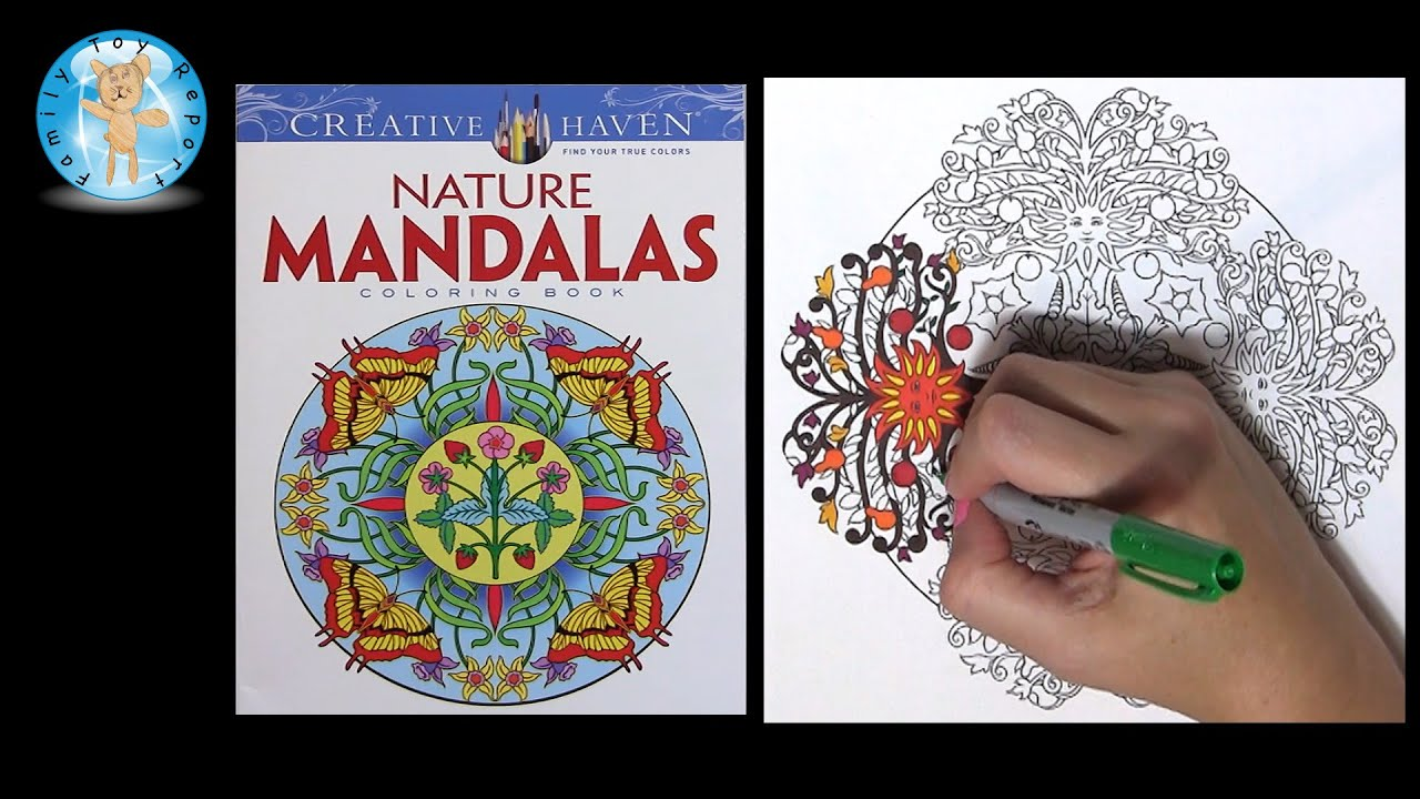 Creative Haven Nature Mandalas By Marty Noble Adult Coloring Book Sun