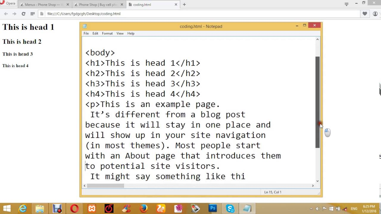 How to create a website By HTML coding (Bangla Tutorial ...