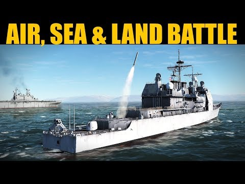 Coffee Campaign: DAY 7 HUGE Air, Sea & Land Battle | DCS WORLD