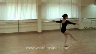 Indian ballerina shows off her moves
