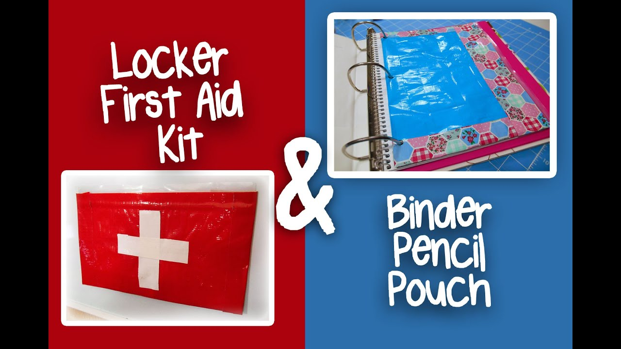 Duct tape crafts kits - Diy Duct Tape Locker First Aid Kit And Binder Pencil Pouch
