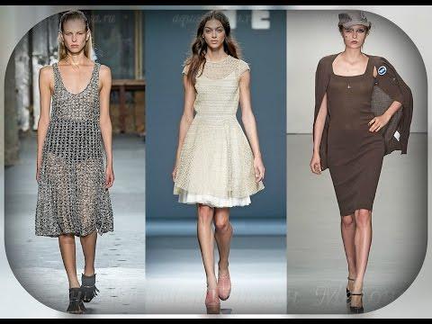 видео: Модные вязаные платья весна - лето 2016, в новых коллекциях одежды