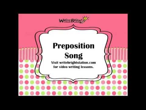 Preposition Song Learn the Prepositions, Memorize