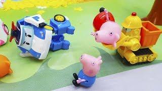 Видео с игрушками Робокар полли для самых маленьких детей.