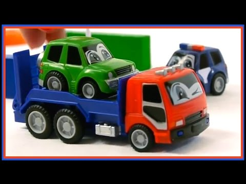 Toy Car Crash! - ROAD SIGN SCHOOL - Truck & Police Car Teach NO ENTRY Signs! Learn Traffic Rules!