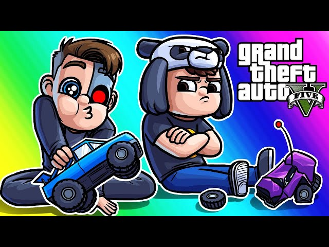GTA5 Online Funny Moments - Panda Ragequits the RC Races!