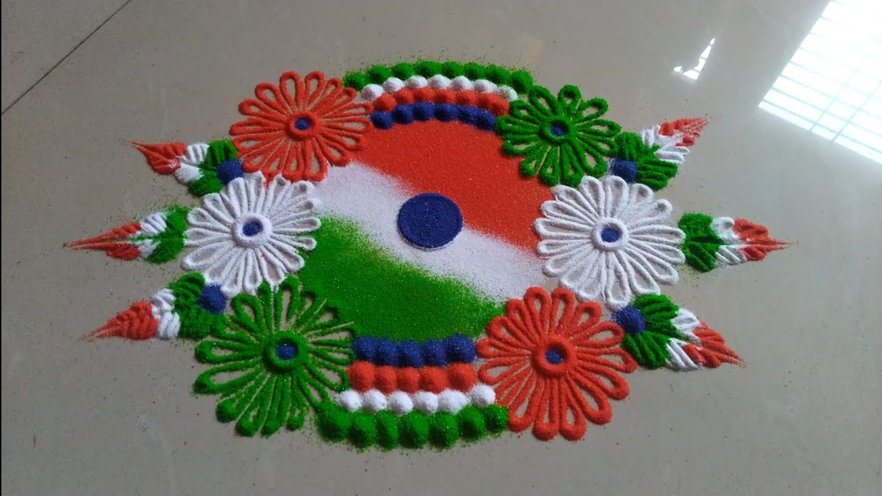 Independence day republic day special rangoli design by for Design republic