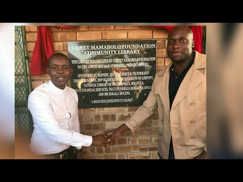 Skeem Saam: Thabo Maputla aka Cornet Mamabolo Opens A Library In His Village In Limpopo: Wow