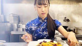 まかないガールズと食べたい【いかとマッシュの辣椒炒め】Stir-fried squid and mushrooms with cili