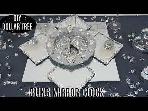 DOLLAR TREE DIY BLING MIRROR CLOCK | DIY CHRISTMAS DECOR 2018