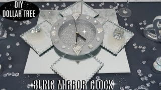 DOLLAR TREE DIY BLING MIRROR CLOCK | DIY CHRISTMAS DECOR 2018
