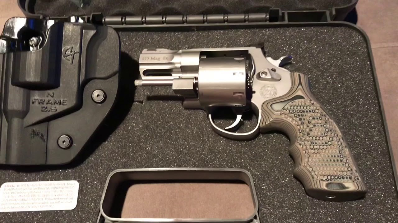 Hogue S&W N frame extreme g10 grips on my 627 PC snub - YouTube