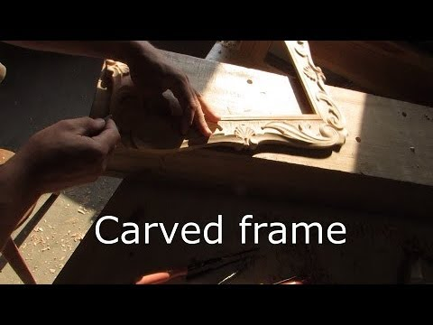 Carved frame | result of work.