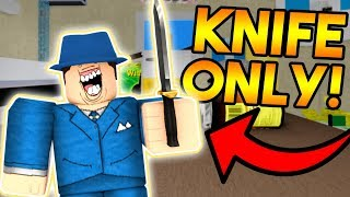 ATTEMPTING THE KNIFE ONLY CHALLENGE ON ARSENAL! (ROBLOX)