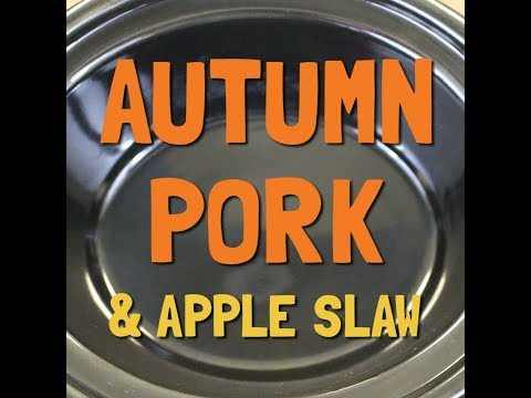 Slow Cooker Autumn Pork & Apple Slaw