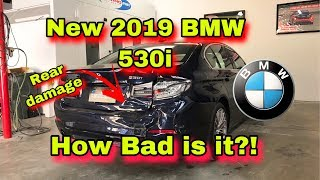 REBUILDING A WRECKED NEW 2019 BMW 530I REAR END DAMAGE
