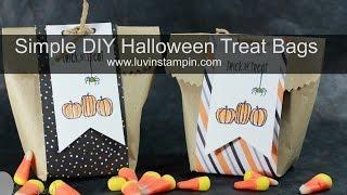 Simple DIY Halloween Treat Bags in 10 minutes